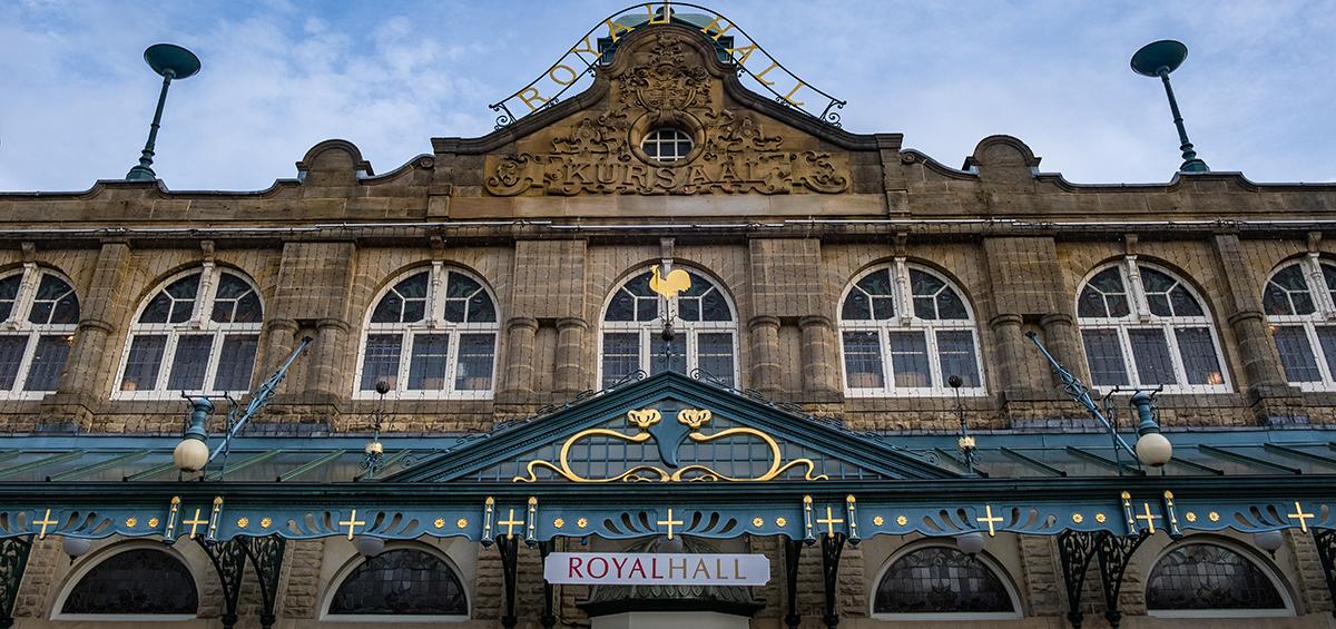 Winter Harrogate buildings 27 Royal Hall