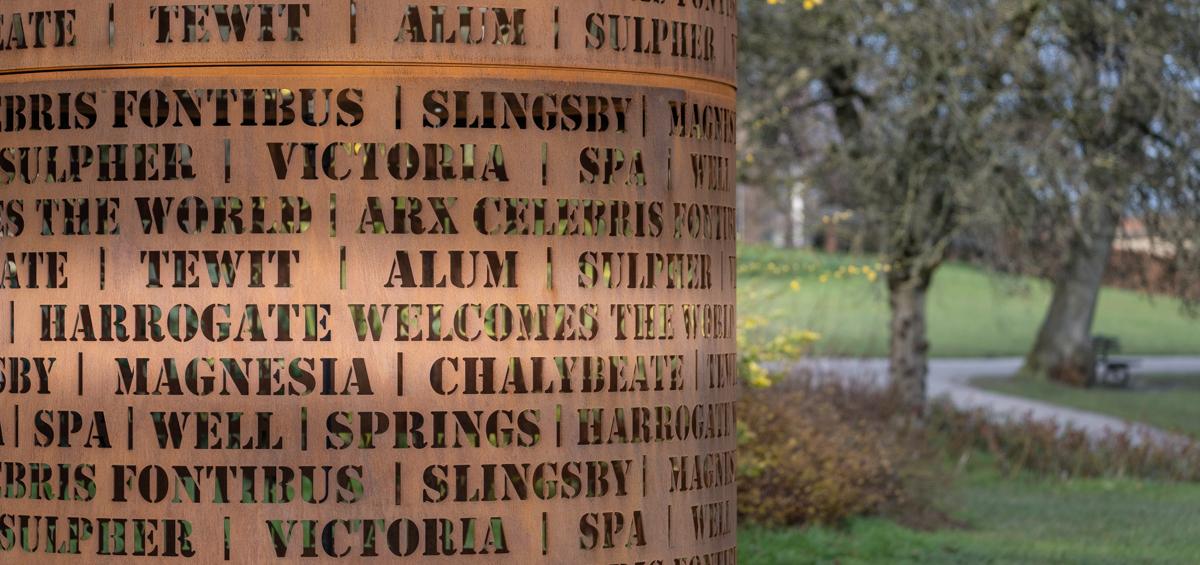 Spring Harrogate Valley Gardens 170 Water sculpture